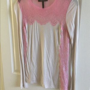 BCBG top with lace detail